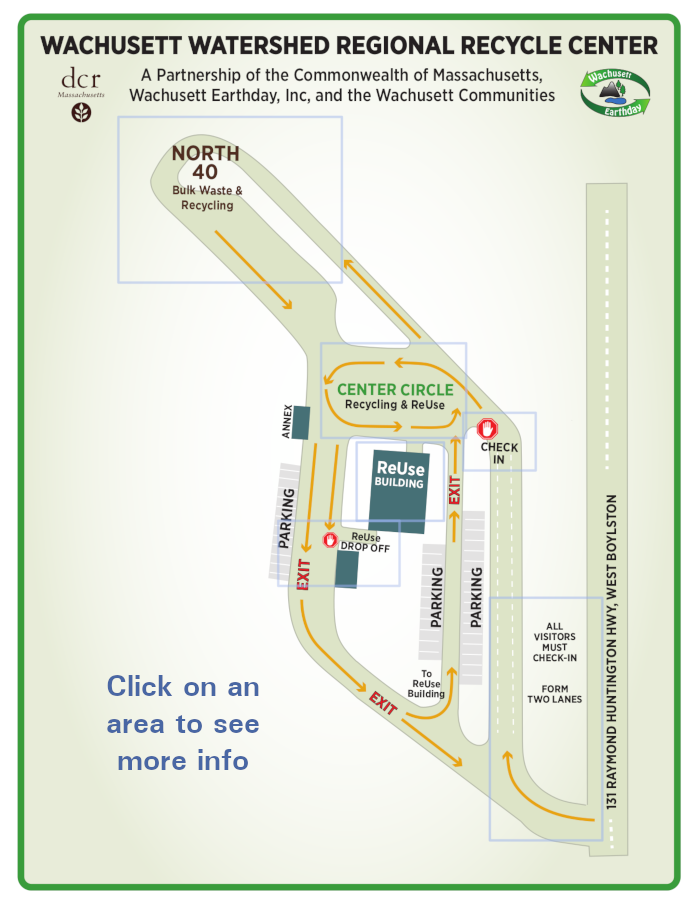 Wachusett Recycle Center Map