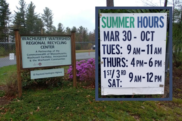 sign with summer hours 2021